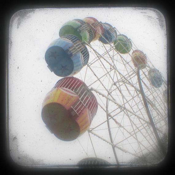 Ferris Wheel Photo 5x5 TtV Carnival Photography - Nursery Art Print